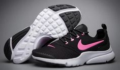 timeless design e3cae e16b0 Womens Nike Air Presto BR QS Oreo Black White Pink Running Shoes