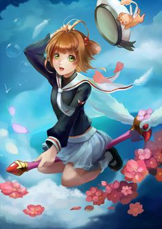 pixiv is an online artist community where members can browse and submit works, join official contests, and collaborate on works with other members. Manga Anime, Anime Hair, Style Pictures, Fashion Pictures, Clear Card, Nhk, Cardcaptor Sakura, Comics Online, Clamp