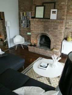 living room fireplace idea