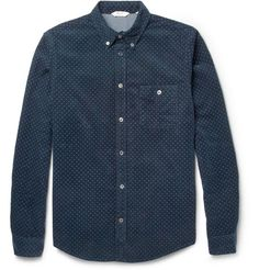 NN.07 Derek Pin-Dot Corduroy Shirt   MR PORTER