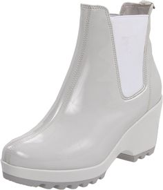 Rockport Women's Lorraine Chelsea Ankle Boot * Don't get left behind, see this great boots : Rain boots Chelsea Ankle Boots, Rockport Boots, Most Comfortable Shoes, White Boots, Rain Boots, Women's Boots, Ankle Booties, Warm Grey