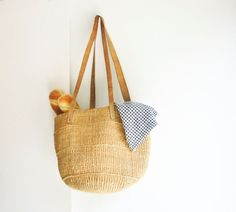 Vintage Sisal Tote - Woven Purse - Summer Handbag via Etsy