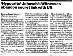 Watchtower Society - United Nations NGO Status 1992