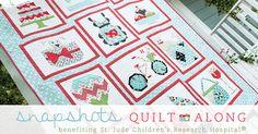 Snapshots Quilt-Along, Quilt along, charity quilt, St. Jude