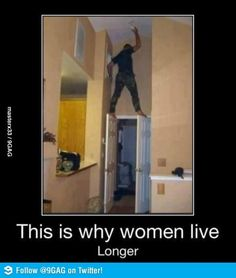 Why women live longer...