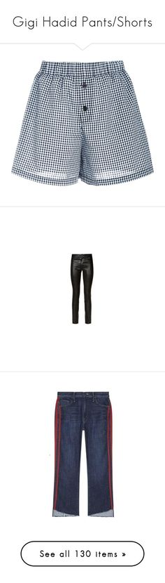 """""""Gigi Hadid Pants/Shorts"""" by taught-to-fly19 ❤ liked on Polyvore featuring intimates, panties, adam selman, short boxer, pants, leather trousers, real leather pants, leather pants, genuine leather pants and jeans"""