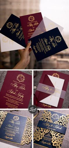 dark color foil monogram invitations with chic belly band Wedding Invitation Trends, Acrylic Wedding Invitations, Wedding Stationery, Wedding Cards, Diy Wedding, Wedding Ideas, Wedding Trends, Minimal Wedding, Reception Card