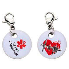 Heart Condition Charm - Aluminum - Large - Aluminum