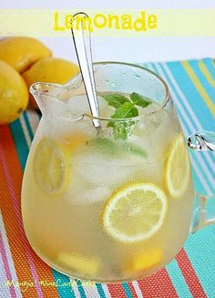 Homemade Old Fashioned Lemonade Recipe easy to make refreshing and thirst quenching summer drink. Click thru for details.