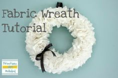 Making this fabric wreath for the Rush home this Christmas!