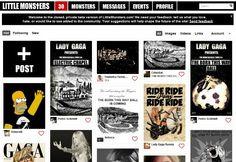 Lady Gaga's social network looks vaguely familiar...