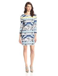 BCBGMax Azria Women's Printed Shift Dress at Amazon Women's Clothing store: