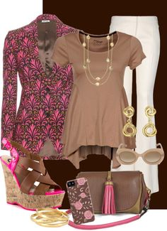 """""""Pink and Brown 3"""" by rooney-chu on Polyvore"""