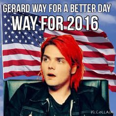 #wayfor2016 If Gerard Way was president we'd have to read comics for an office job