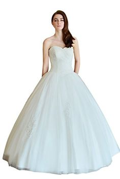 652e7b799b MyTurn Strapless Tulle Ball Gown Wedding Dress with Sweetheart Neckline  Size XL Ivory    Continue