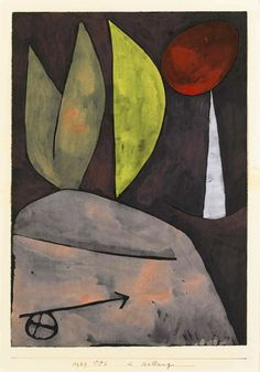 Paul Klee 'In Stellung'( In Position) 1939 Watercolour on paper laid down on the artist's mount 31.3 x 22 cm