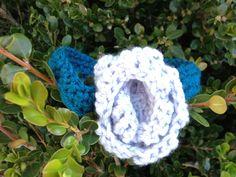 Turquoise And Grey Crochet Headband on Etsy, $7.00