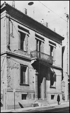 Greece Pictures, Old Greek, Athens Greece, Neoclassical, Vintage Pictures, Old Photos, Facade, Architecture, Old Pictures