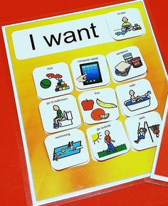 Interactive Choice Board Autism with 20 PECS
