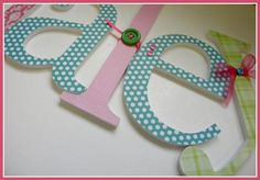 Baby name letters for the nursery!