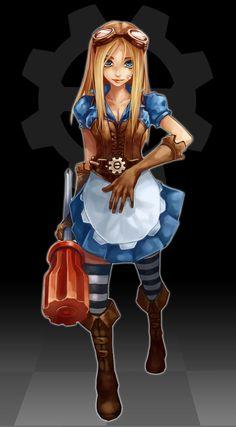 SteamPunk Alice by ~danmaru on deviantART