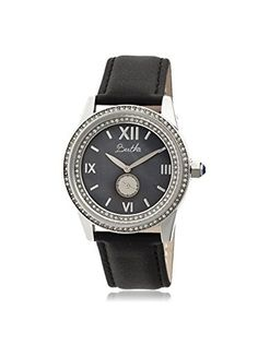 Bertha Women's BTHBR5202 Emma Black Leather Watch