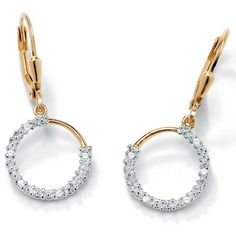 Fashion-insider diamond accent circle drop earrings flaunt fabulous shimmer designed to turn you into a diamond diva. WPrice - $39-lyDPC20J