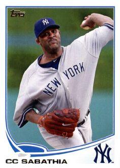 2013 Topps Baseball #52 CC Sabathia New York Yankees
