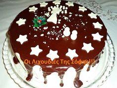 Η ποιο εύκολη Χριστουγεννιάτικη τούρτα με φωτογραφίες βήμα βήμα και αναλυτικές οδηγίες! Υλικα γιαΧριστουγεννιάτικη τούρτα ΥΛΙΚΑ ΓΙΑ ΤΟ ΠΑΝΤΕΣΠΑΝΙ 4 αυγά 4 κ.σ ζάχαρη 4 κ.σ αλεύρι που φουσκώνει 3 κ.σ κακάο 1 βανίλια 1 πρέζα αλάτι -Χτυπάω τα αυγά με τη ζάχαρη,βανίλια και Cake Recipes, Dessert Recipes, Angel Cake, Sweet Desserts, Cake Pops, Food Styling, Chocolate Cake, Birthday Cake, Cooking Recipes