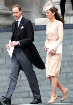 Beige perfection - Prince William, Duke of Cambridge and Catherine, Duchess of Cambridge depart the Service of Thanksgiving at St Paul's Cathedral, as part of the Diamond Jubilee, marking the 60th anniversary of the accession of Queen Elizabeth II on June 5, 2012 in London, England.