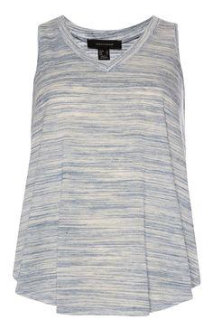 Primark - Blau meliertes, ausgestelltes Top