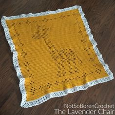 Do-it-yourself Solar Power - A Primary Manual For Beginners Don't You Just Love Filet Crochet Blankets. Make This Filet Giraffe Blanket With This Free Crochet Pattern Provided By The Lavender Chair Baby Afghan Crochet Patterns, Crochet For Beginners Blanket, Baby Blanket Crochet, Crochet Blankets, Baby Blankets, Baby Afghans, Beginner Crochet, Crochet Borders, Crochet Afghans