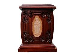 Urnporium Adult Our Lady of Guadalupe Mahogany Wood with Cherry Wood Virgin Mary Onlay Funeral Cremation Wooden Urn Urnporium http://www.amazon.com/dp/B00YWA2A9S/ref=cm_sw_r_pi_dp_TKbhwb1E3DEDV
