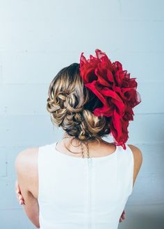 Oversized Fabric Flower Bridal Head Piece by Craftcourse