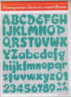 Crochet Alphabet, Embroidery Alphabet, Embroidery Fonts, Cross Stitch Letters, Cross Stitch Boards, Cross Stitch Needles, Bead Loom Patterns, Stitch Patterns, Cross Stitching