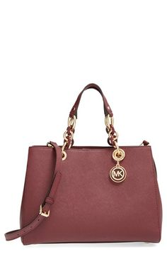 Love this by MICHAEL MICHAEL KORS 'Cynthia' Saffiano Leather Satchel - $348