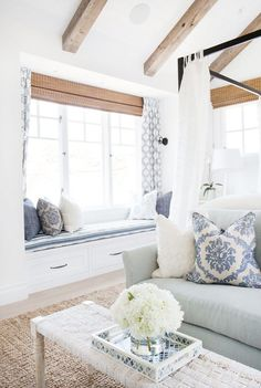 Images Of Beach Cottage Interiors House Interior Design White Wood Blinds Blue And