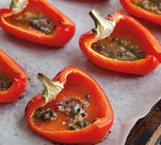 Roasted Pepper Boats from Annabel Langbein