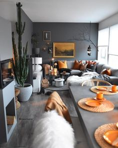 Decorate your home with style, find our biggest decor inspiration, our selection of bedroom decor, living room decor, dining room t… Living Room Colors, Home Living Room, Living Room Decor, Bedroom Decor, Living Room Grey, Dining Room, Black White And Grey Living Room, Cozy Living, Grey Yellow