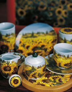 Handmade Porcelain Decoration | Sunflowers