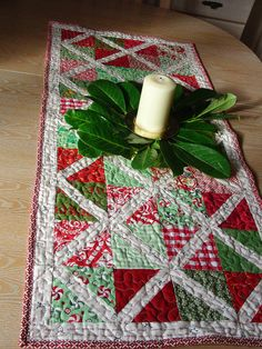 Modern Christmas Tablerunner - Detail by Laura @ Needles, Pins and Baking Tins, via Flickr