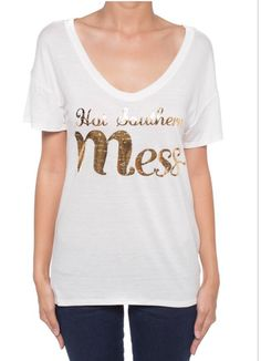Hot Southern Mess Gold Women's Tee – Cupcakes and Cheer Boutique