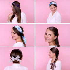 Image gallery – Page 382946774555049582 – Artofit Bandana Hairstyles, Up Hairstyles, Hair Scarf Styles, Curly Hair Styles, Grunge Hair, Hair Videos, Hair Day, Hair Looks, Bridal Hair