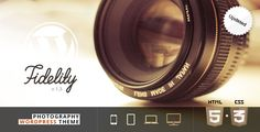 Buy Fidelity - Premium Photography WordPress Theme by fireform on ThemeForest. Fidelity is the most fastest and future-oriented WordPress theme. It's primarily for photographers, but it can be use. Html Website Templates, Creative Photography, Photography Portfolio, Modern Photography, Wordpress Template, Premium Wordpress Themes, Design Agency, I Am Awesome, Projects To Try