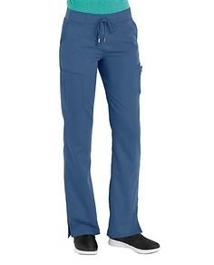 POCKETFUL OF POISE    It's all in the pockets …. These Grey's Anatomy scrub pants feature six pockets for all your workday necessities, including a double cargo pocket to keep bulk out of the way. Plus, a modern rise and gentle stretch polyester/rayon mean you move freely for whatever a busy shift throws your way.      Grey's Anatomy 6 Pocket Cargo Scrub Pants      Modern rise   Straight leg   6 pockets, including 2 front and double cargo pockets   Hem slits   77% polyester/23% ...