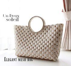 Plastic Canvas Stitches, Straw Bag, Mesh, Handbags, Crochet, Collection, Fashion, Craft, Plastic Bags