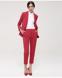 red pant suit | Skirt the Ceiling | skirttheceiling.com