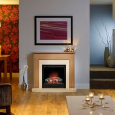 Be Modern Blakemere Flat Against Wall Electric Fire Suite: Image 4