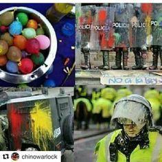 #Repost @chinowarlock with @repostapp  1) #EstrategiasYMalicias pacíficas contra la DICTADURA en VENEZUELA. #ViralizaLosTips   1) Desde ya vayan fabricado Globos llenos de pintura de (aceite) para que en la próximas convocatorias de CALLE sean lanzadas en los Escudos Transparentes de los GNB Y PNB para que pierdan visualización de los manifestantes y así puedan seuir avanzando también sirven para los parabrisas de las ballenas y tanquetas represoras logrando obtener buenos resultados ante la…