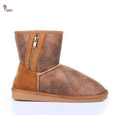 9e1db5a3846a Ideal Shoes - Bottines fourrées Melyne Camel 41 - Chaussures ideal shoes  ( Partner-